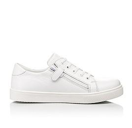 Детские кеды (боковая молния) Woopy Fashion белые для девочек натуральная кожа размер 33-40 (8130) Фото 5