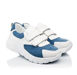 Детские кроссовки Woopy Fashion белые для девочек натуральный нубук и кожа размер 26-40 (8131) Фото 1