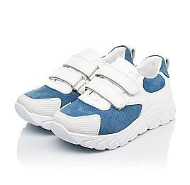 Детские кроссовки Woopy Fashion белые для девочек натуральный нубук и кожа размер 26-40 (8131) Фото 3