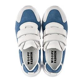 Детские кроссовки Woopy Fashion белые для девочек натуральный нубук и кожа размер 26-40 (8131) Фото 5