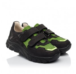 Детские кроссовки Woopy Fashion черные для мальчиков натуральный нубук и искусственный материал размер 20-36 (8133) Фото 2