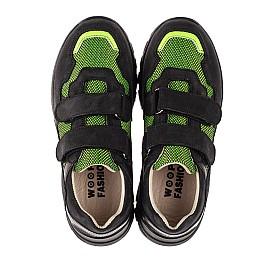 Детские кроссовки Woopy Fashion черные для мальчиков натуральный нубук и искусственный материал размер 20-36 (8133) Фото 7