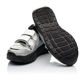 Детские кроссовки Woopy Fashion серебряные для девочек натуральная кожа, искусственный материал  размер 30-40 (8135) Фото 2