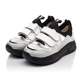 Детские кроссовки Woopy Fashion серебряные для девочек натуральная кожа, искусственный материал  размер 30-40 (8135) Фото 3