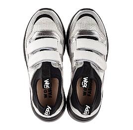 Детские кроссовки Woopy Fashion серебряные для девочек натуральная кожа, искусственный материал  размер 30-40 (8135) Фото 5