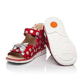 Детские босоножки Woopy Orthopedic красные для девочек натуральный нубук размер 20-30 (8137) Фото 4