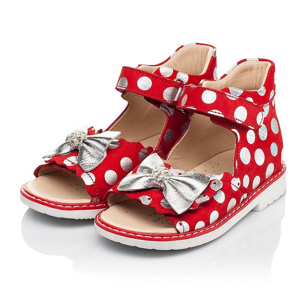 Детские босоножки Woopy Orthopedic красные для девочек натуральный нубук размер 20-30 (8137) Фото 5