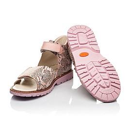 Детские босоножки Woopy Orthopedic розовые для девочек натуральный нубук и кожа размер 26-39 (8140) Фото 2