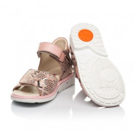 Детские босоножки Woopy Orthopedic розовые для девочек натуральный нубук и кожа размер 26-39 (8140) Фото 3