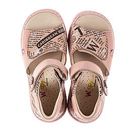 Детские босоножки Woopy Orthopedic розовые для девочек натуральный нубук и кожа размер 26-39 (8140) Фото 6