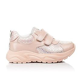 Детские кроссовки Woopy Fashion пудровые для девочек натуральный нубук и кожа размер 21-40 (8141) Фото 4