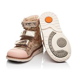 Детские ортопедические туфли (с высоким берцем) Woopy Orthopedic пудровые для девочек натуральный нубук размер 19-33 (8144) Фото 2