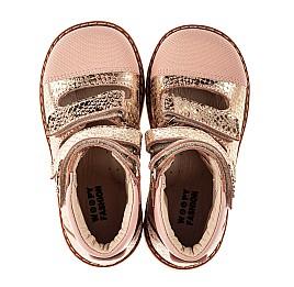 Детские ортопедические туфли (с высоким берцем) Woopy Orthopedic пудровые для девочек натуральный нубук размер 19-33 (8144) Фото 5