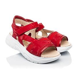 Детские босоножки Woopy Fashion красные для девочек натуральная кожа, текстиль размер 33-39 (8145) Фото 1