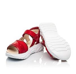 Детские босоножки Woopy Fashion красные для девочек натуральная кожа, текстиль размер 33-39 (8145) Фото 2