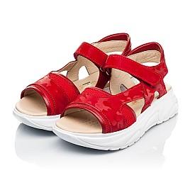 Детские босоножки Woopy Fashion красные для девочек натуральная кожа, текстиль размер 33-39 (8145) Фото 3