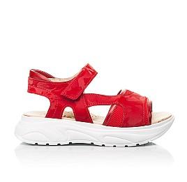 Детские босоножки Woopy Fashion красные для девочек натуральная кожа, текстиль размер 33-39 (8145) Фото 4