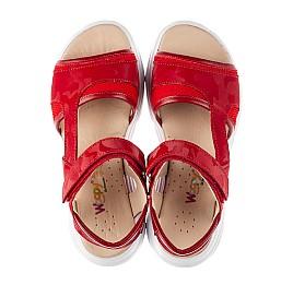 Детские босоножки Woopy Fashion красные для девочек натуральная кожа, текстиль размер 33-39 (8145) Фото 5