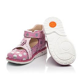 Детские закрытые босоножки Woopy Orthopedic розовые для девочек натуральные кожа и нубук размер 18-28 (8148) Фото 2