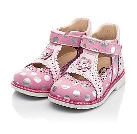 Детские закрытые босоножки Woopy Orthopedic розовые для девочек натуральные кожа и нубук размер 18-28 (8148) Фото 3