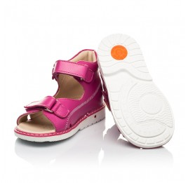 Детские босоножки Woopy Orthopedic малиновые для девочек натуральная кожа размер 18-30 (8151) Фото 2