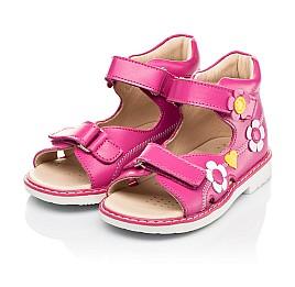 Детские босоножки Woopy Orthopedic малиновые для девочек натуральная кожа размер 18-30 (8151) Фото 3