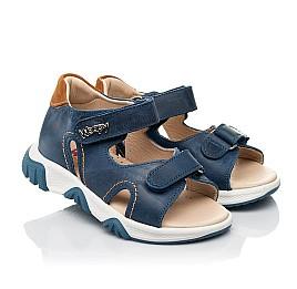 Детские босоножки Woopy Fashion синие для мальчиков натуральная кожа размер 23-36 (8153) Фото 1