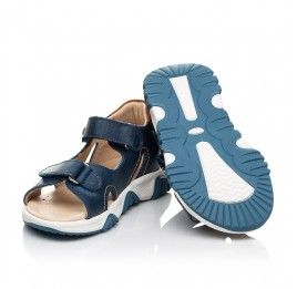Детские босоножки Woopy Fashion синие для мальчиков натуральная кожа размер 23-36 (8153) Фото 2