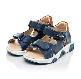 Детские босоножки Woopy Fashion синие для мальчиков натуральная кожа размер 23-36 (8153) Фото 3