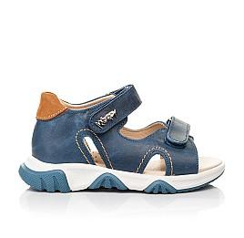 Детские босоножки Woopy Fashion синие для мальчиков натуральная кожа размер 23-36 (8153) Фото 4