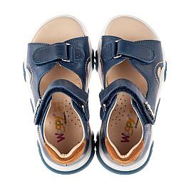 Детские босоножки Woopy Fashion синие для мальчиков натуральная кожа размер 23-36 (8153) Фото 5
