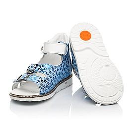 Детские босоножки Woopy Orthopedic голубые для девочек натуральный нубук размер 20-33 (8154) Фото 2