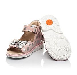 Детские босоножки Woopy Orthopedic розовые для девочек натуральный нубук размер 20-30 (8157) Фото 2