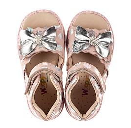 Детские босоножки Woopy Orthopedic розовые для девочек натуральный нубук размер 20-30 (8157) Фото 5