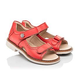 Детские босоножки Woopy Orthopedic красные для девочек натуральная кожа размер 23-36 (8160) Фото 1
