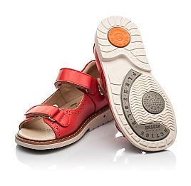 Детские босоножки Woopy Orthopedic красные для девочек натуральная кожа размер 23-36 (8160) Фото 2
