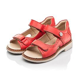 Детские босоножки Woopy Orthopedic красные для девочек натуральная кожа размер 23-36 (8160) Фото 3