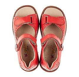 Детские босоножки Woopy Orthopedic красные для девочек натуральная кожа размер 23-36 (8160) Фото 5