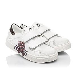 Детские кеды Woopy Fashion белые для мальчиков натуральная кожа размер 20-30 (8162) Фото 1