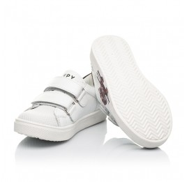 Детские кеды Woopy Fashion белые для мальчиков натуральная кожа размер 20-30 (8162) Фото 2
