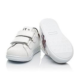 Детские кеды Woopy Fashion белые для мальчиков натуральная кожа размер 20-30 (8162) Фото 3