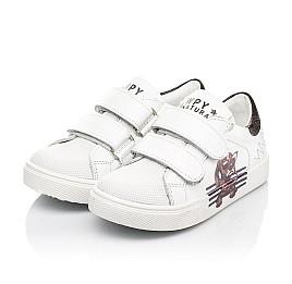 Детские кеды Woopy Fashion белые для мальчиков натуральная кожа размер 20-30 (8162) Фото 4