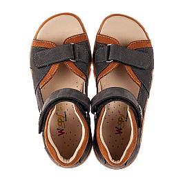 Детские босоножки Woopy Fashion коричневые для мальчиков натуральный нубук размер 21-37 (8164) Фото 5