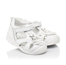 Детские закрытые босоножки Woopy Orthopedic белые для девочек натуральная кожа размер 20-28 (8165) Фото 2