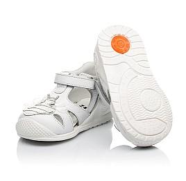 Детские закрытые босоножки Woopy Orthopedic белые для девочек натуральная кожа размер 20-28 (8165) Фото 3