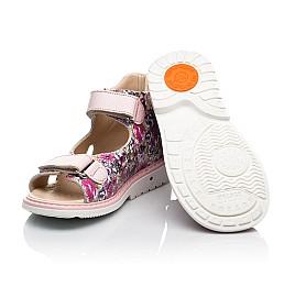 Детские босоножки Woopy Orthopedic разноцветные для девочек натуральная кожа размер 23-36 (8167) Фото 2