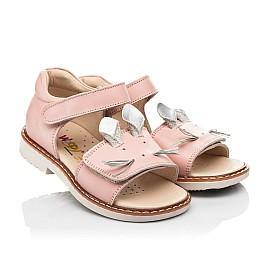 Детские босоножки Woopy Orthopedic розовые для девочек натуральная кожа размер 19-30 (8170) Фото 1