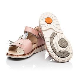 Детские босоножки Woopy Orthopedic розовые для девочек натуральная кожа размер 19-30 (8170) Фото 2