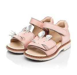 Детские босоножки Woopy Orthopedic розовые для девочек натуральная кожа размер 19-30 (8170) Фото 3