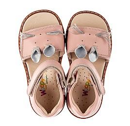 Детские босоножки Woopy Orthopedic розовые для девочек натуральная кожа размер 19-30 (8170) Фото 5